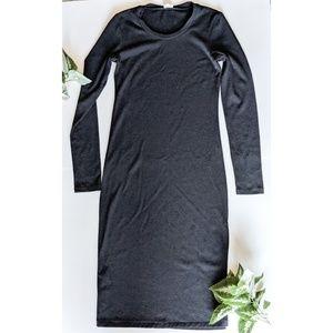Wilfred free long sleeve black dress